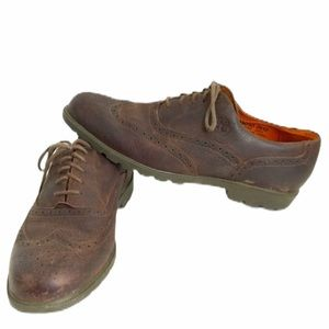 Timberland 11 Brown Leather Casual Brogue Oxford